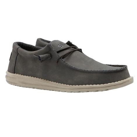 Hey Dudes Wally Recycled Leather in Coffee Men's Shoe