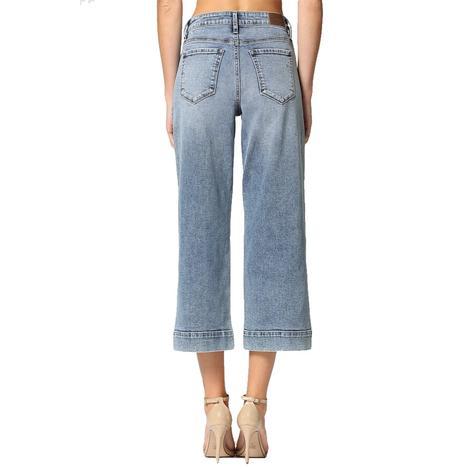 Nori Medium Wash Classic Stretch Wide Leg Jeans by Hidden Jeans