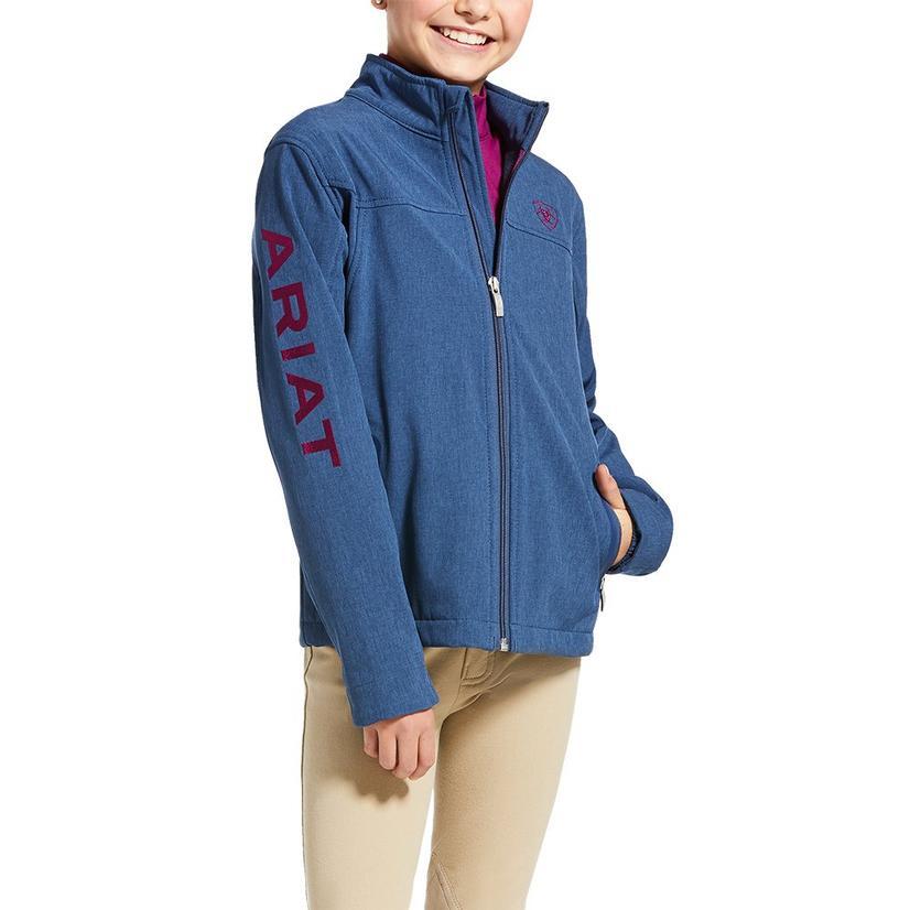 Ariat Youth New Team Softshell Blue Jacket