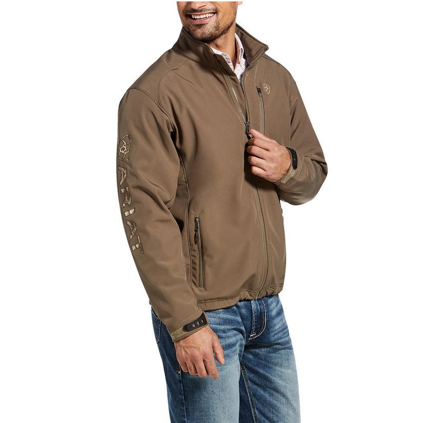 Ariat Softshell Brown Camo Logo Men's Jacket