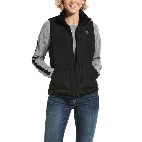 Ariat Reversible Dillon Black Quilted Women's Vest