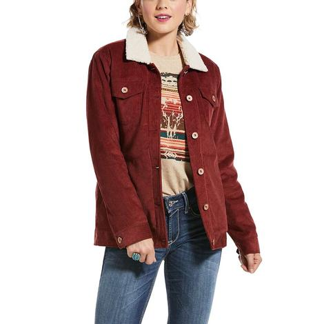 Ariat Womens Corduroy Sherpa Lined Trucker Jacket