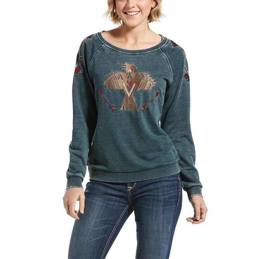 Ariat Womens Thunderbird Ivy Green Sweatshirt