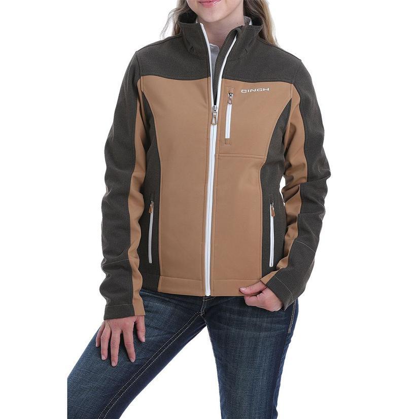 Cinch Brown Tan Bonded Conceal Carry Women's Jacket