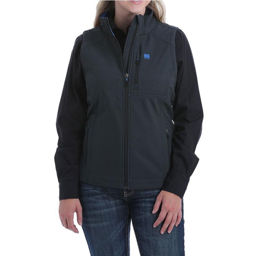 Cinch Black And Blue Bonded Women's Vest