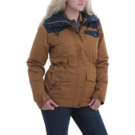 Cinch Brown and Navy Canvas Barn Coat