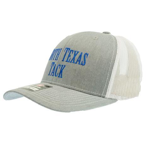 South Texas Tack Original Logo Trucker Gray and White Cap