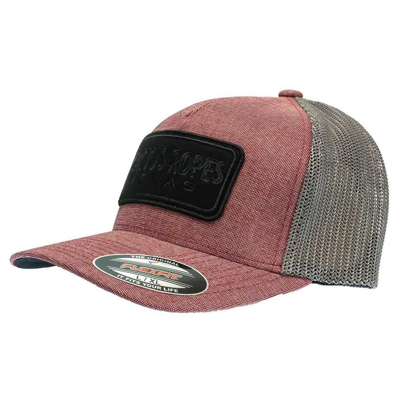 Hooey Cactus Ropes 5 Panel Trucker Maroon Front With Grey Back