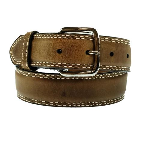 Solid Brown Leather Kid's Belt