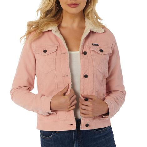 Wrangler Light Pink Corduroy Women's Jacket