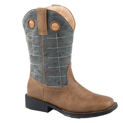 Roper Wild Bill Brown & Blue Kids Boot