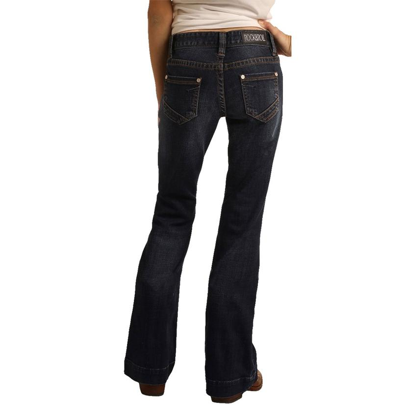 Rock & Roll Cowgirl Girl's Dark Wash Trouser