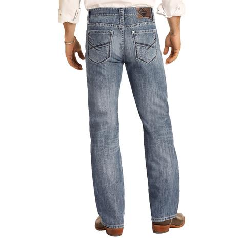 Rock and Roll Cowboy Double Barrel Straight Leg Jeans