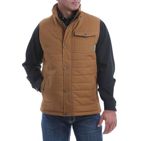 Cinch Brown Quilted Canvas Vest
