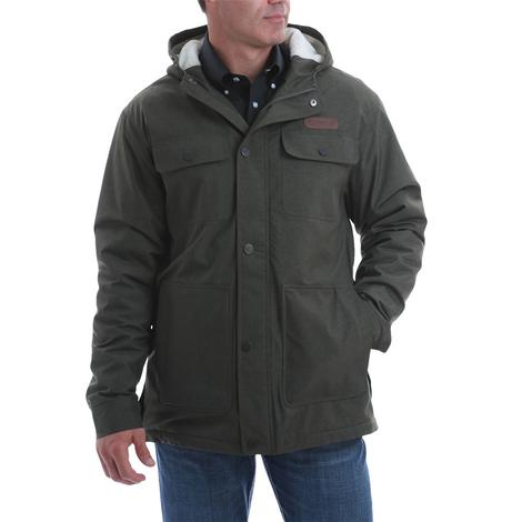 Cinch Olive Sherpa Lined Barn Coat