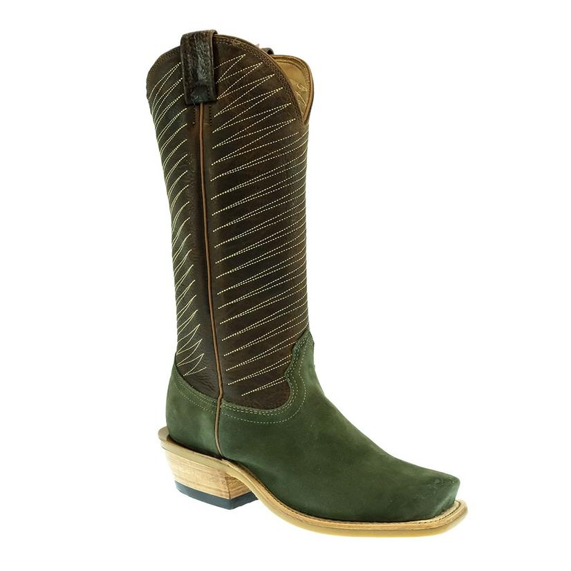 Fenoglio Men's Olive Roughout With Whiskey Byron Crunch Boots