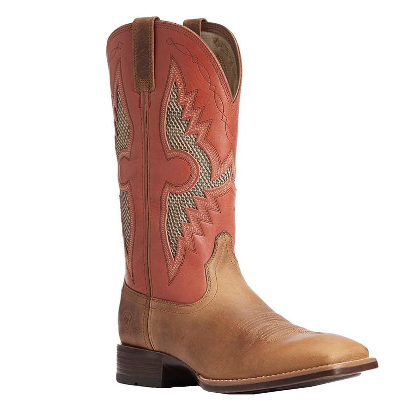 Ariat Soldado Vent Brown Red Mens ' Boots
