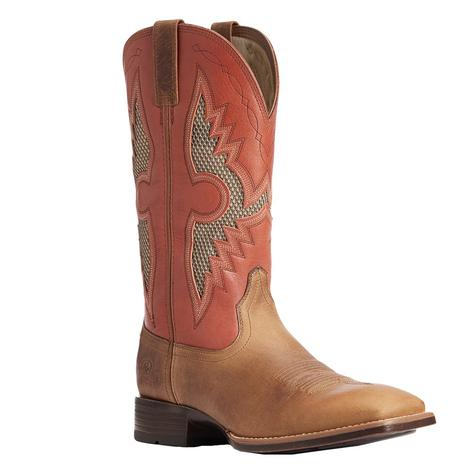 Ariat Soldado Vent Brown Red Mens' Boots