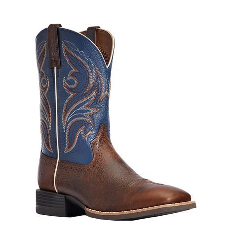 Ariat Sport Knockoout Dark Brown Blue Men's Boots