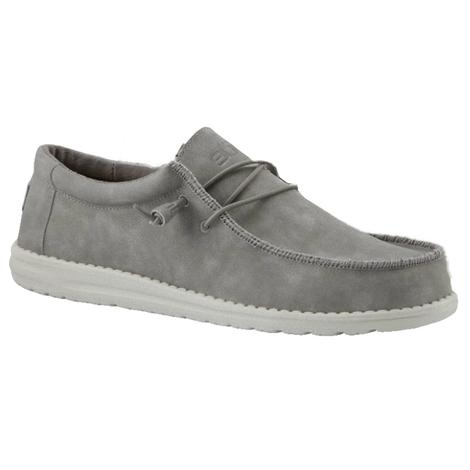 Hey Dudes Wally Recycled Leather Grey Men's Shoe
