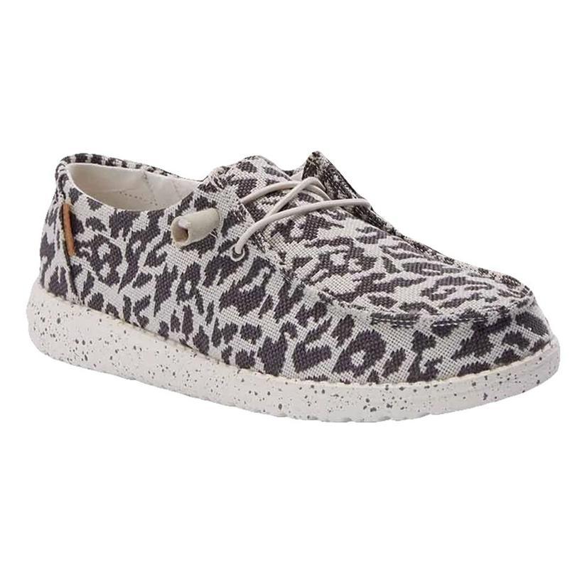 Hey Dude Wendy Woven Cheetah Grey Women's Shoes