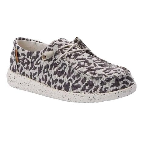 Hey Dude Wendy Woven Cheetah Grey Women's Shoes