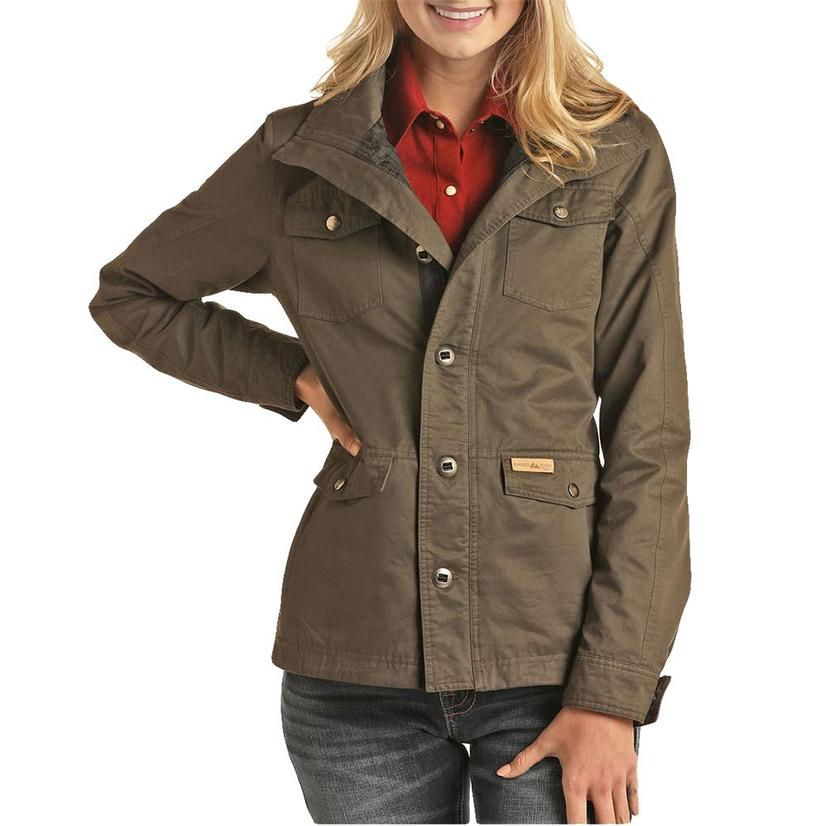 Powder River Performance Women's Rancher Coat In Olive