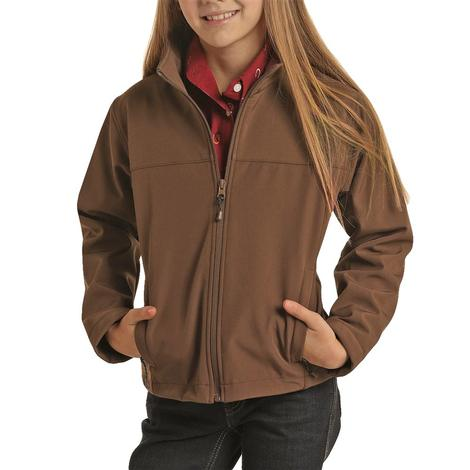 Powder River Solid Brown Fleece Kid's Jacket
