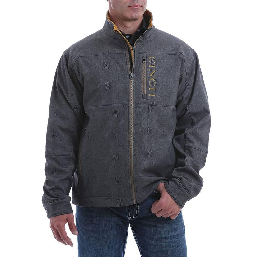 Cinch Charcoal Brown Bonded Jacket Extended Size