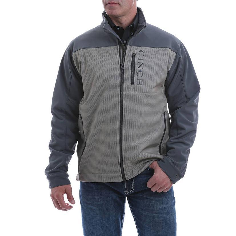 Cinch Navy Grey Color Block Bonded Men's Jacket Extended Size