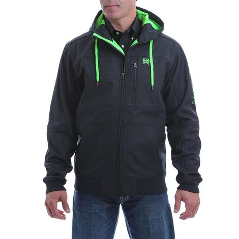 Cinch Black Green Embossed Bonded Men's Hoodie
