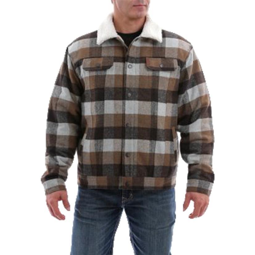 Cinch Men's Plaid Sherpa Jacket