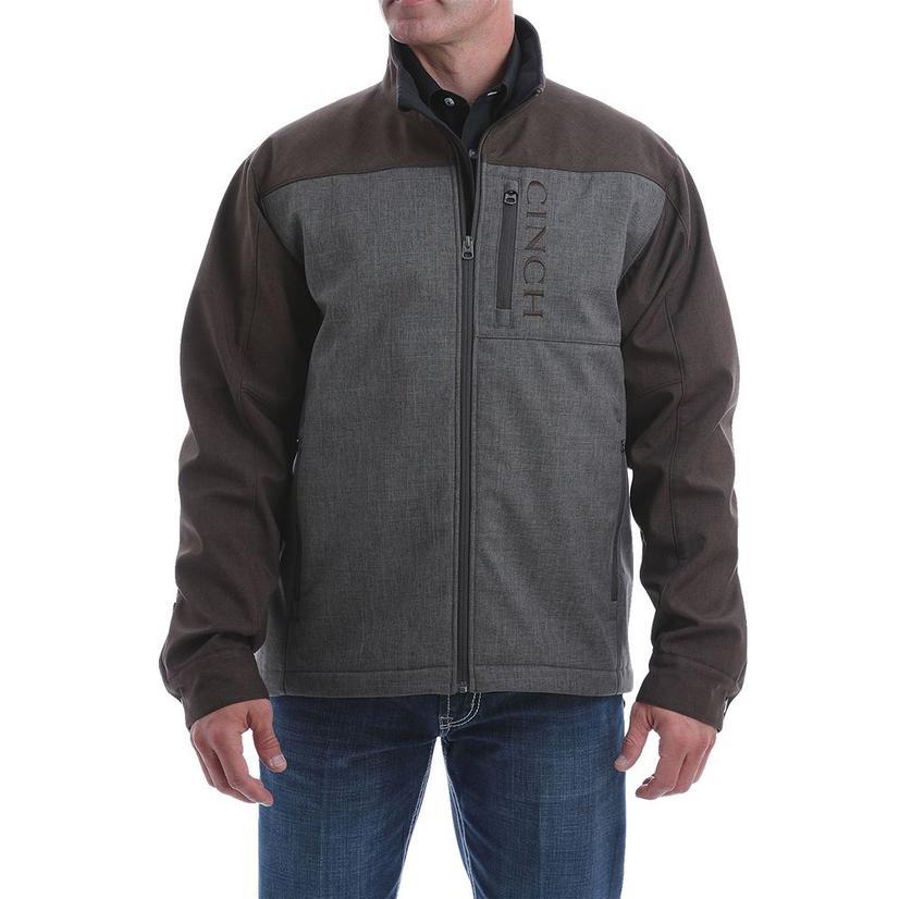 Cinch Brown Collar Block Concealed Bonded Men's Jacket
