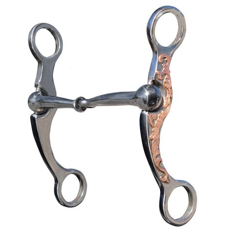 Professional's Choice Stockman Snaffle Copper Bit