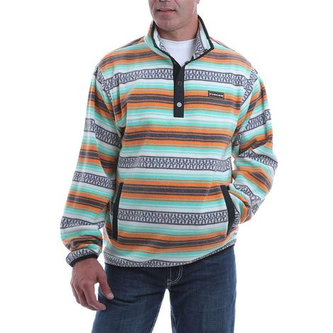 Cinch Mint Multi Print Fleece Men's Pullover