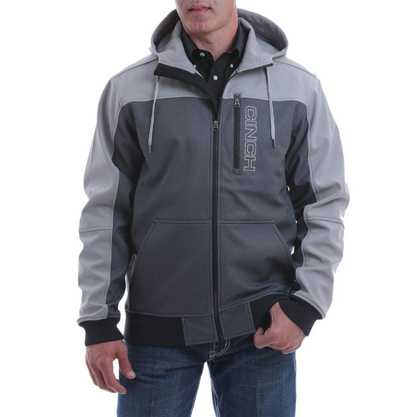 Cinch Grey Color Block Bonded Men's Hoodie