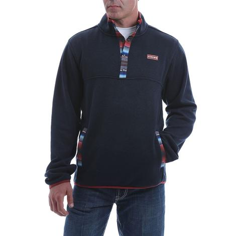 Cinch Navy Serape Sweater Knit Men's Pullover