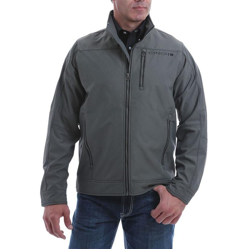Cinch Olive Textured Bonded Men's Jacket