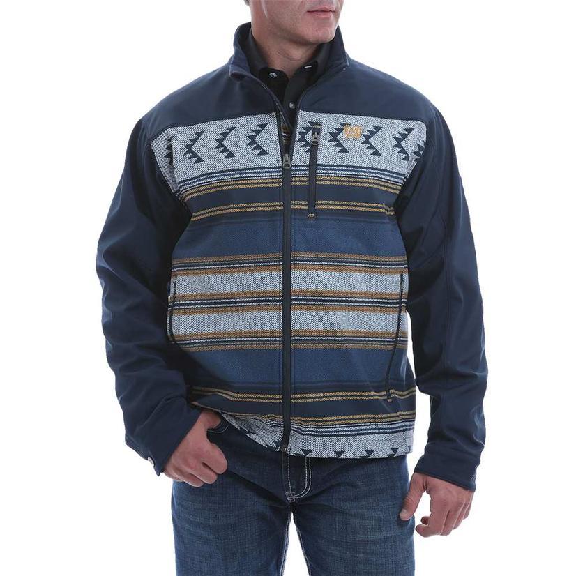 Cinch Navy Aztec Print Bonded Men's Jacket