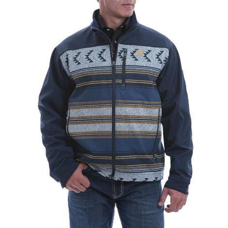 Cinch Navy Aztec Print Bonded Men's Jacket