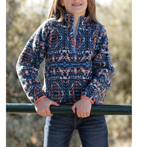 Cruel Girl Aztec Print Fleece Girl's Pullover
