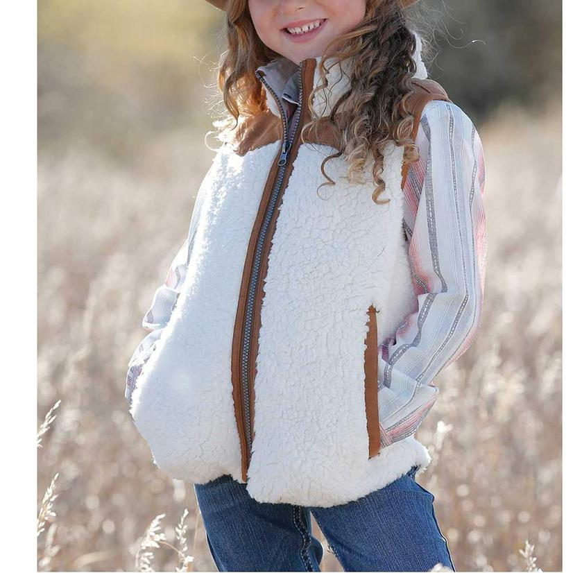 Cruel Girl Sherpa Suede Girl's Vest
