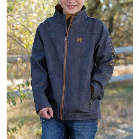 Cincih Boys Charcoal Brown Bonded Jacket