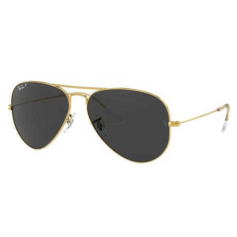 Ray-Ban Aviator Classic Gold Frame Black Lens Sunglasses