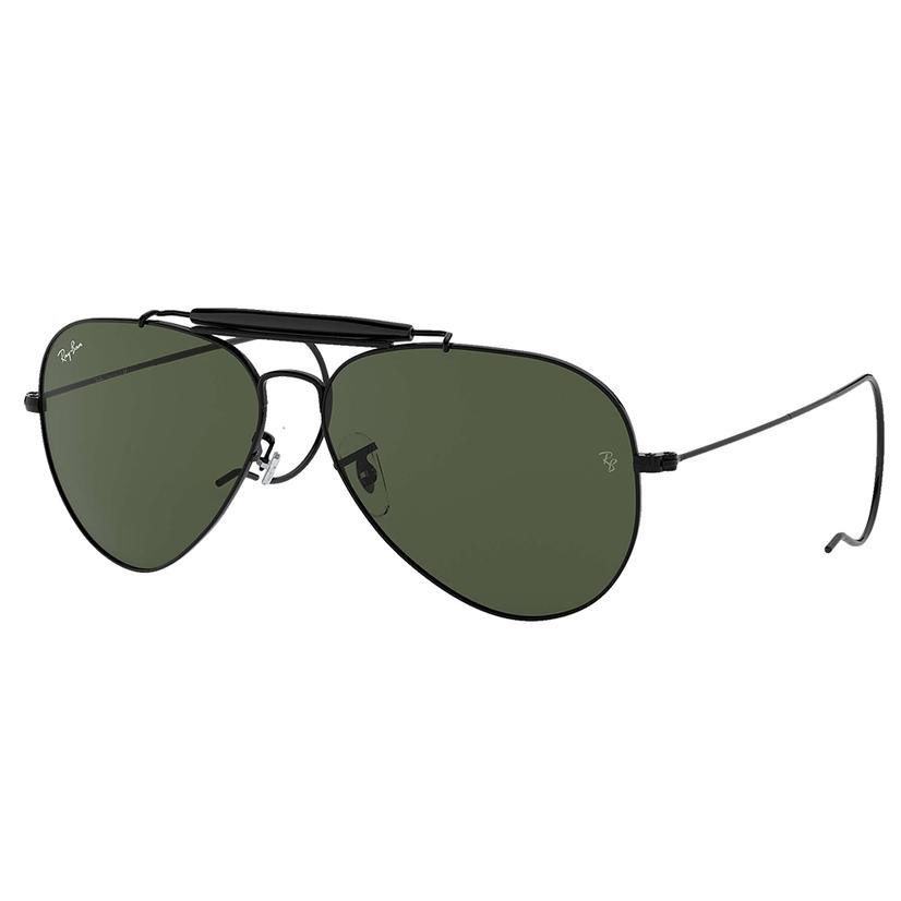 Ray- Ban Outdoorsman Black Metal Frame Gren Classic G- 15 Lens Sunglasses