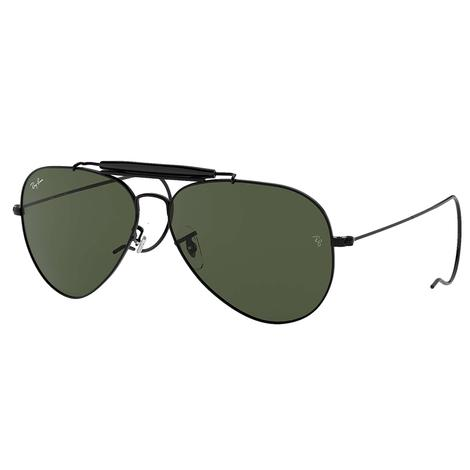 Ray-Ban Outdoorsman Black Metal Frame Gren Classic G-15 Lens Sunglasses