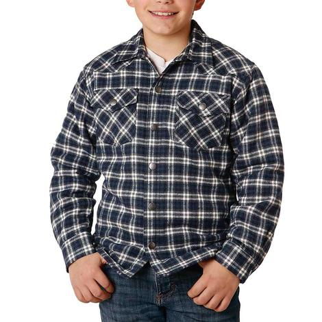 Roper Assorted Sherpa Lined Flannel Long Sleeve Boy's Shirts