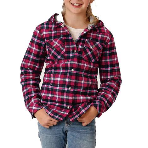 Roper Assorted Plaid Flannel Girl's Shirt Jackets