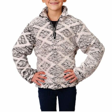 Roper Black Multi Print Polar Fleece Girl's Pullover