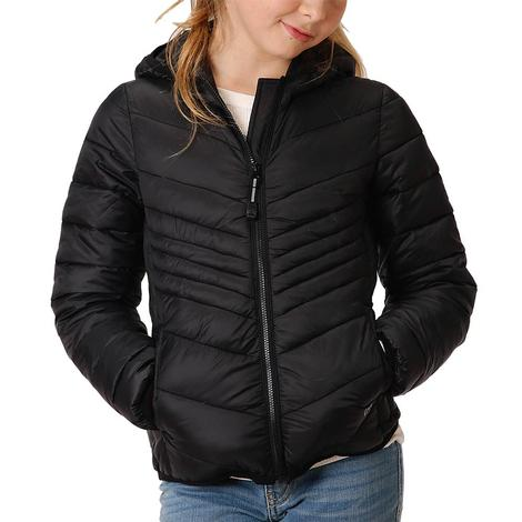 Roper Black Down-Like Ply-Fill Girl's Jacket